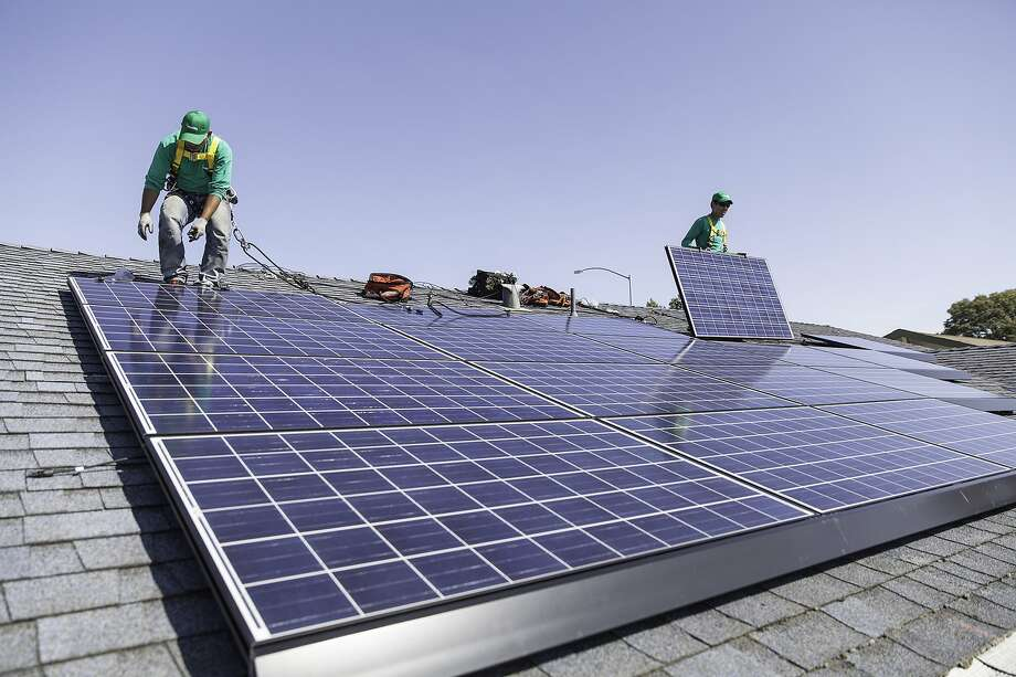 In some areas, electricity from large-scale solar plants may already  be more economical than building new natural gas plants. Photo: Uncredited, Associated Press