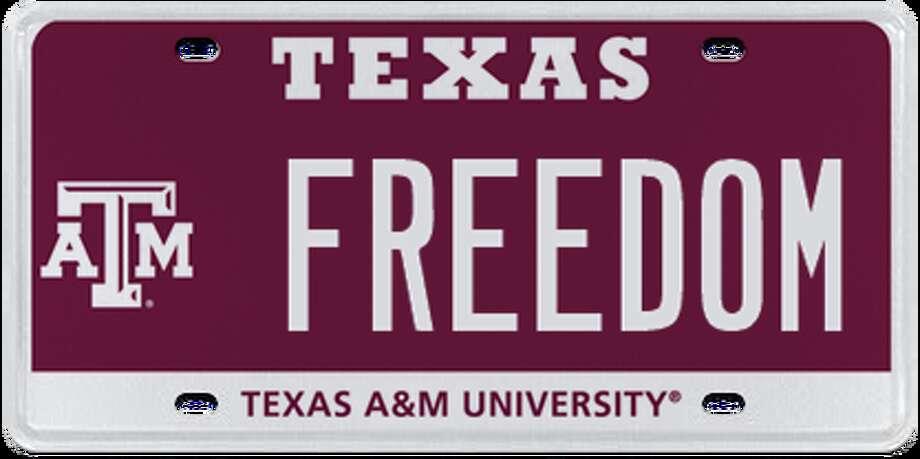 1. Texas   A&M University - Maroon Photo: MyPlates.com