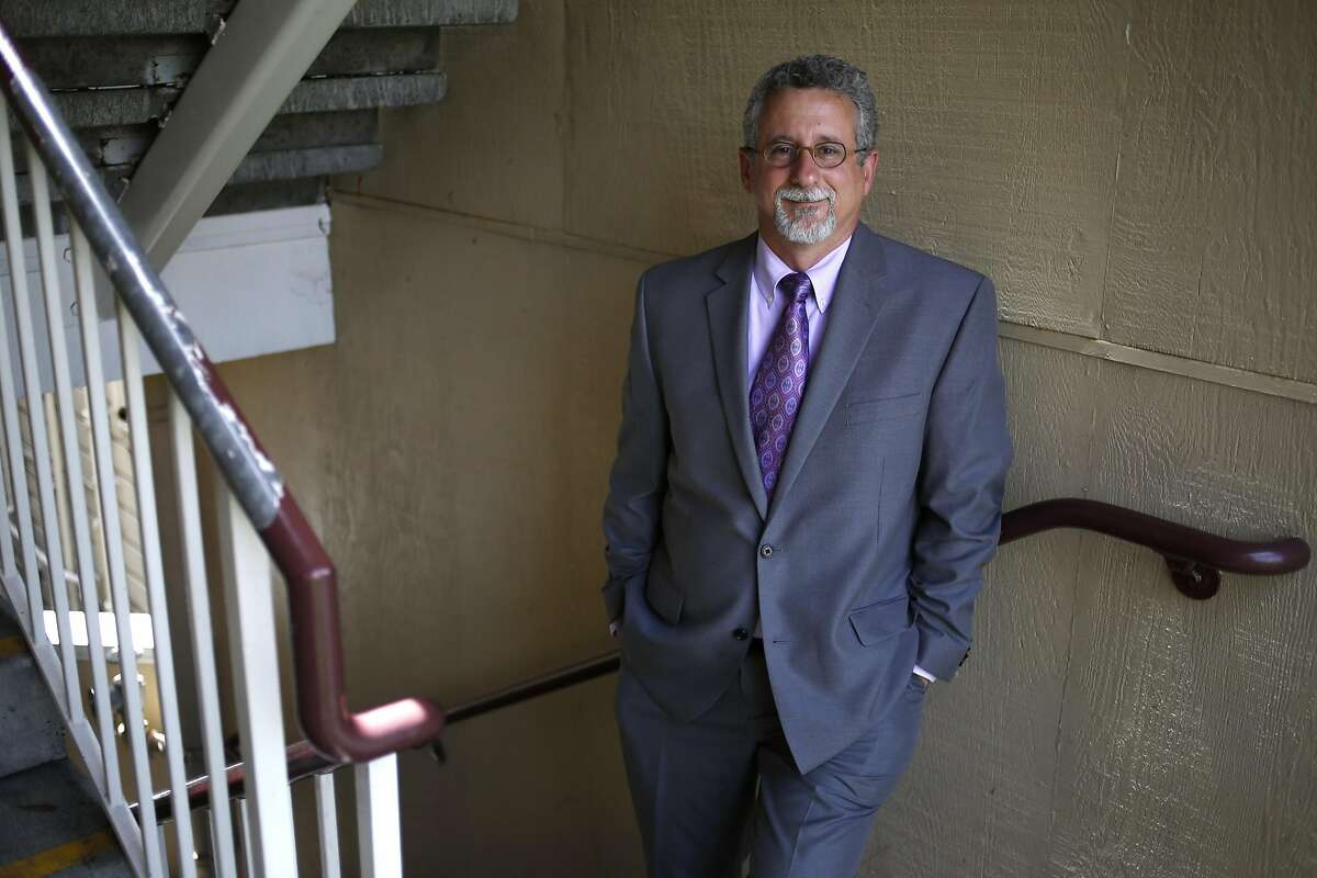 Jeff Kositsky, director of the new Department of Homelessness and Supportive Housing, stands in his old workplace, the Hamilton Family Center, in San Francisco, California, on Wednesday, May 11, 2016.