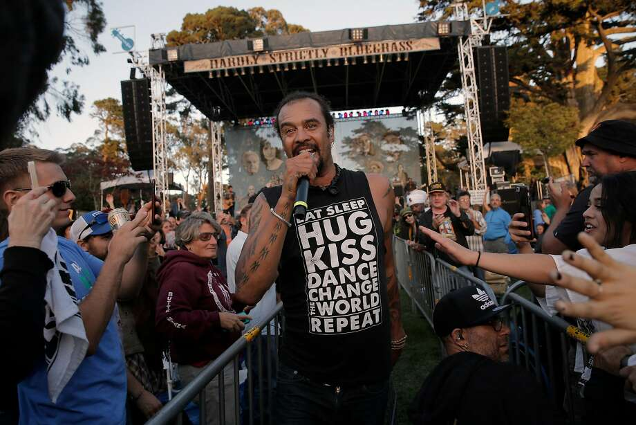 Michael Franti, who lives in Hunters Point, is shown performing during Hardly Strictly Bluegrass in Golden Gate Park in 2015. Photo: Michael Macor, The Chronicle