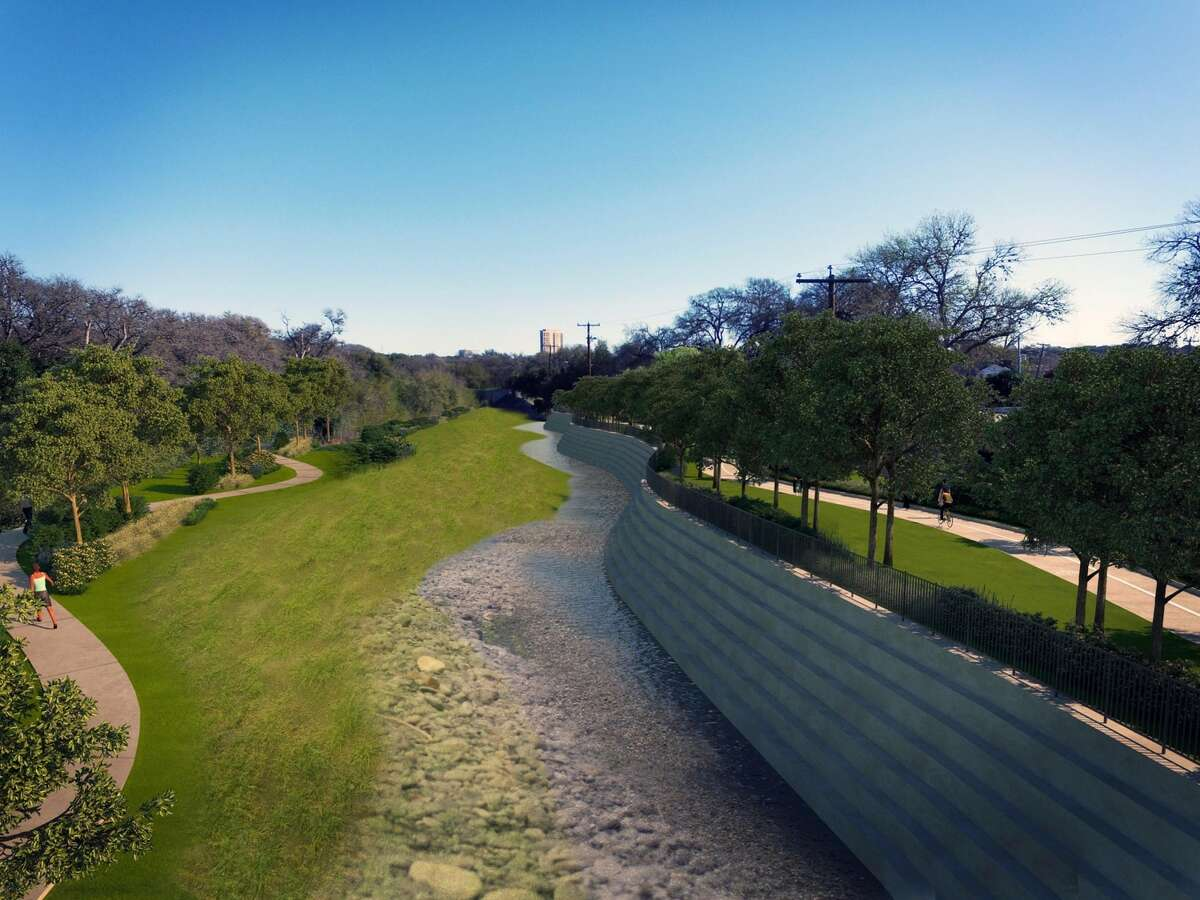 Proposed restoration of the Catalpa-Pershing Channel in Brackenridge Park.