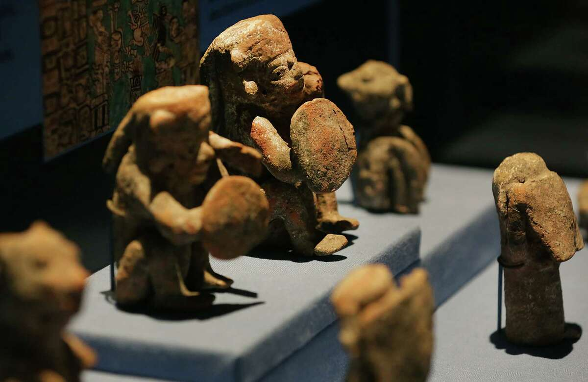 """The Witte Museum is about ready to open the exhibit """"Maya:Hidden Worlds Revealed"""" in the Mays Family Center. Museum workers were putting final touches on the exhibit on Monday, May 9, 2016."""