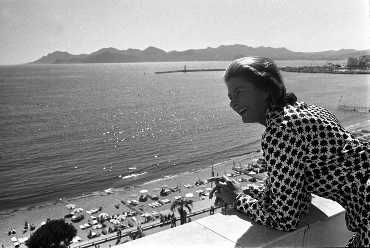 Swedish actress Ingrid Bergman, President of the Jury of International Film Festival of Cannes, is seen on the balcony of a hotel on May 10, 1973.