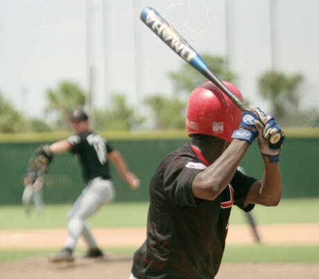 Batter prepares for a pitch At Baseball USA..