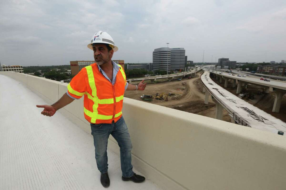 TxDOT Project Supervisor Amir Mosaffa talks about the major traffic switch this weekend, changing the way drivers get from northbound Loop 610 to U.S. 290. Click the gallery to see how big other Houston road projects are.