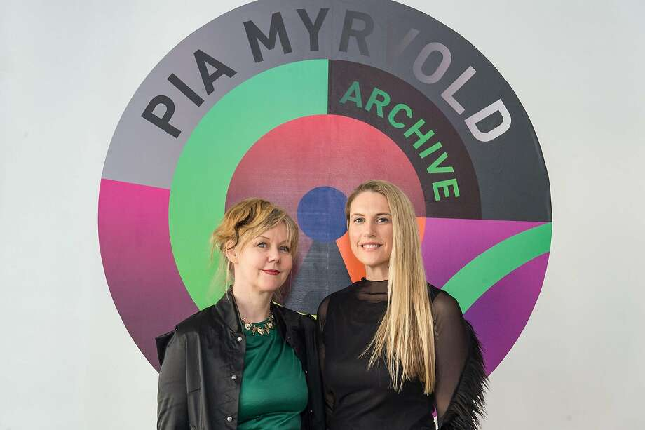 """The new B.A.D. Space gallery in Dogpatch, started by Breanna Alexander de Geere (right) , is opening with """"Hybrid Love,"""" is Norwegian artist (left) Pia Myrvold's introduction to San Francisco. Photo: Drew Altizer Photography"""