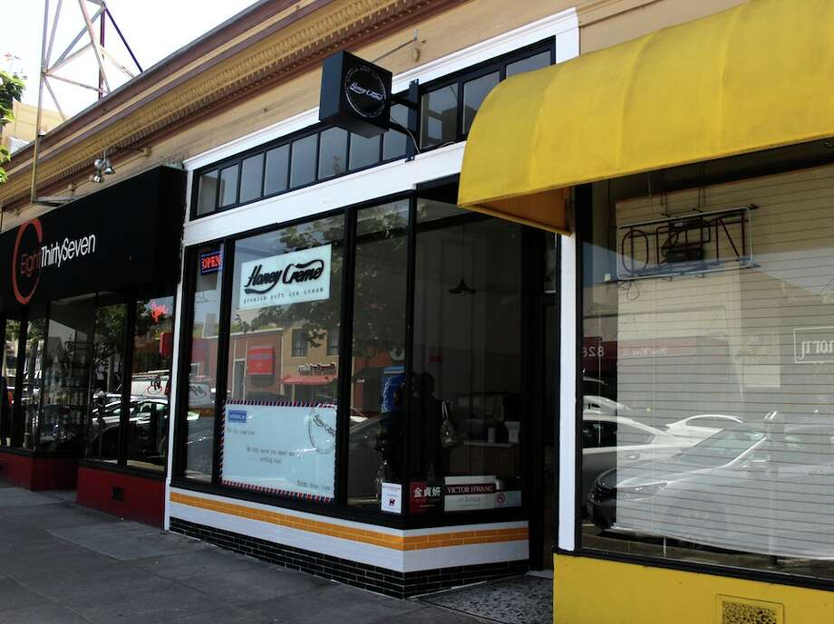 Honey Creme, a new shop that sells soft serve with chunks of real honeycomb just popped up in the Inner Sunset.