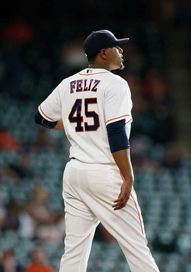 Feliz's recent stint with the Astros has bolstered the club's confidence in him. Photo: Karen Warren, Houston Chronicle / © 2016 Houston Chronicle