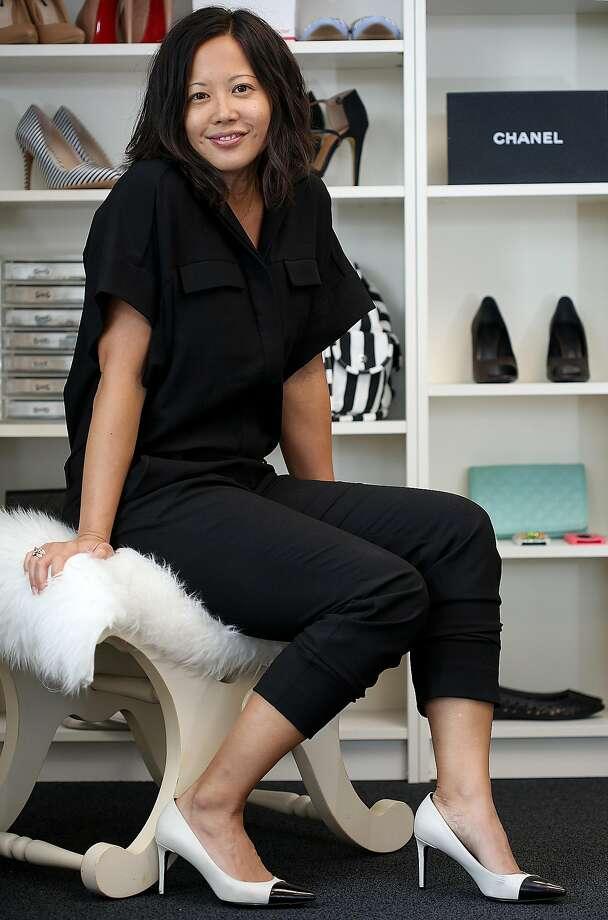 Poshmark co-founder Tracy Sun at her office in Redwood City. Photo: Liz Hafalia, The Chronicle