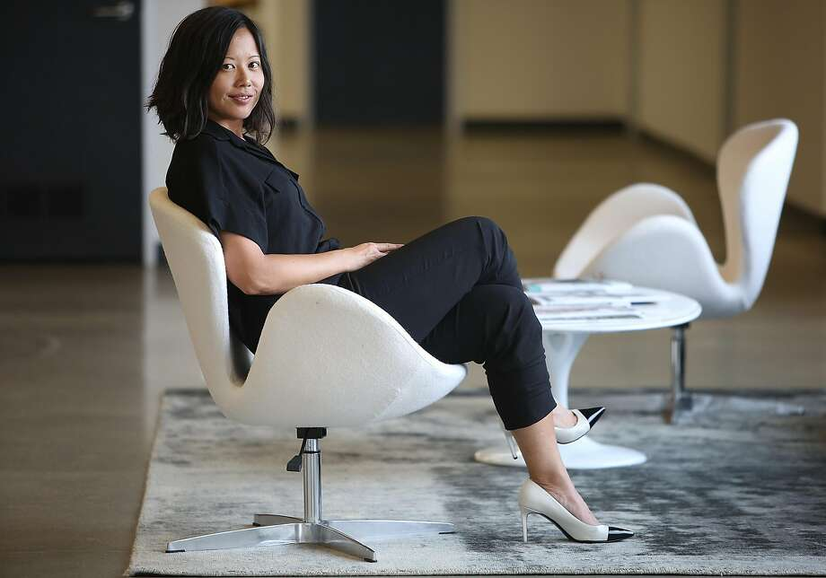 Poshmark co-founder and Vice President of Merchandising Tracy Sun at her office in Redwood City. The company, which received $25 million in new funding in April, just moved. Photo: Liz Hafalia, The Chronicle
