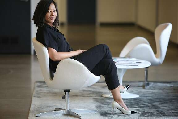 Poshmark co-founder Tracy Sun at her office in Redwood City, California, on friday, may 6, 2016.