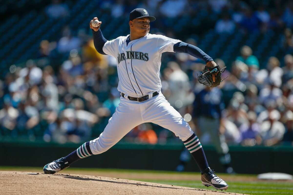 SEATTLE, WA - MAY 11: Starting pitcher Taijuan Walker #44 of the Seattle Mariners pitches against the Tampa Bay Rays in the first inning at Safeco Field on May 11, 2016 in Seattle, Washington. (Photo by Otto Greule Jr/Getty Images)