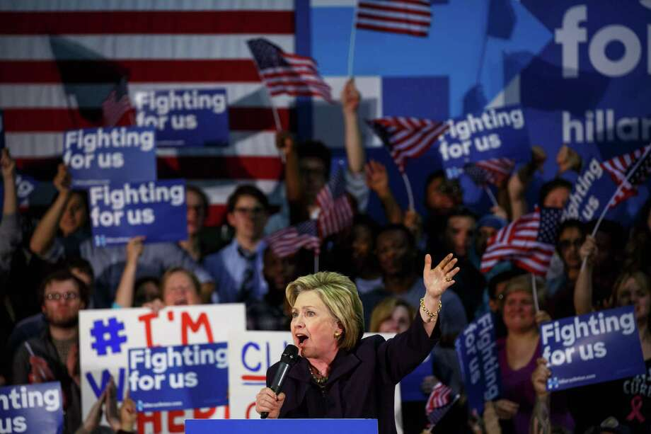 """Hillary Clinton mocked Donald Trump's refusal to release his tax returns. """"So you've got to ask yourself, why doesn't he want to release them?"""" she said. """"Yeah, well, we're going to find out.""""  Photo: RICHARD PERRY, STF / NYTNS"""