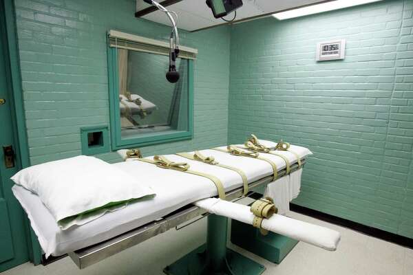 This May 27, 2008, file photo, shows the gurney in the death chamber in Huntsville, Texas. Texas is paying four times more for its execution drugs from a new supplier, putting it in line with a local consumer rate but well below the cost in at least one other death penalty state. Documents obtained by The Associated Press show the state paid $13,500 for its most recent batch of pentobarbital at a cost of $1,500 per vial. This compares to $350 per dose paid last year to a previous supplier that cut ties after backlash from death penalty opponents. (AP Photo/Pat Sullivan, File)