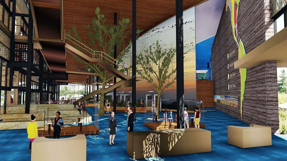 An interior rendering of the proposed a $75 million Pacific Flyway Center. Photo: Courtesy Dahlin Group / Special To The Chronicle