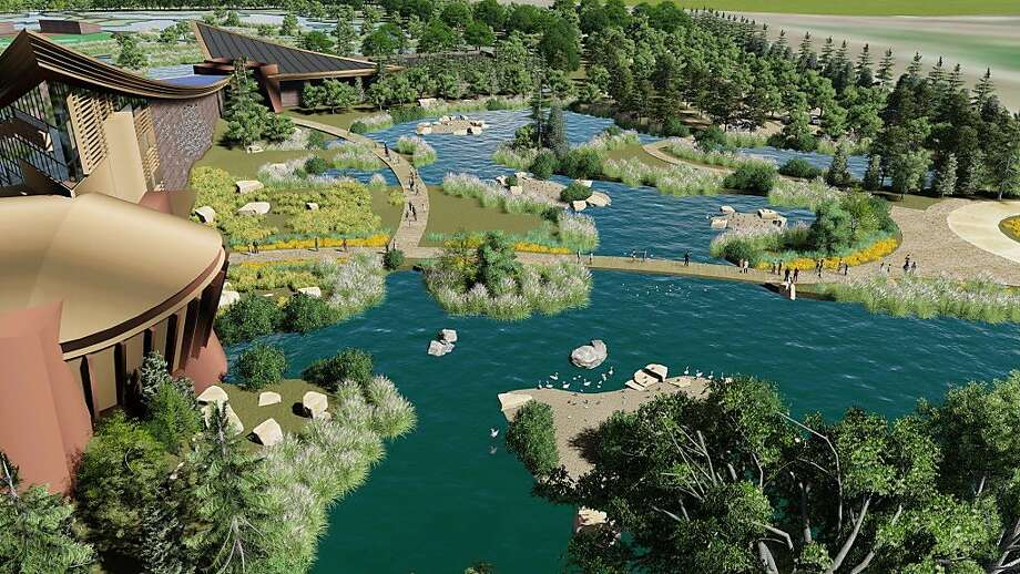 Maverick entrepreneur Ken Hofmann has proposed a $75 million educational facility called the Pacific Flyway Center for the Suisun Marsh adjacent to I-680 that would be open to the public and showcase the story of the Pacific Flyway and the value of wetlands, waterfowl and wildlife, and roughly replicate the experience visitors have at the Monterey Aquarium Photo: Courtesy Dahlin Group / Special To The Chronicle