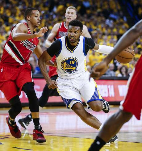 Golden State Warriors Leandro Barbosa drives past Portland Trail Blazers C.J. McCollum in the first quarter during Game 5 of the NBA Playoffs at Oracle Arena on Wednesday, May 11, 2016 in Oakland, Calif. Photo: Scott Strazzante, The Chronicle