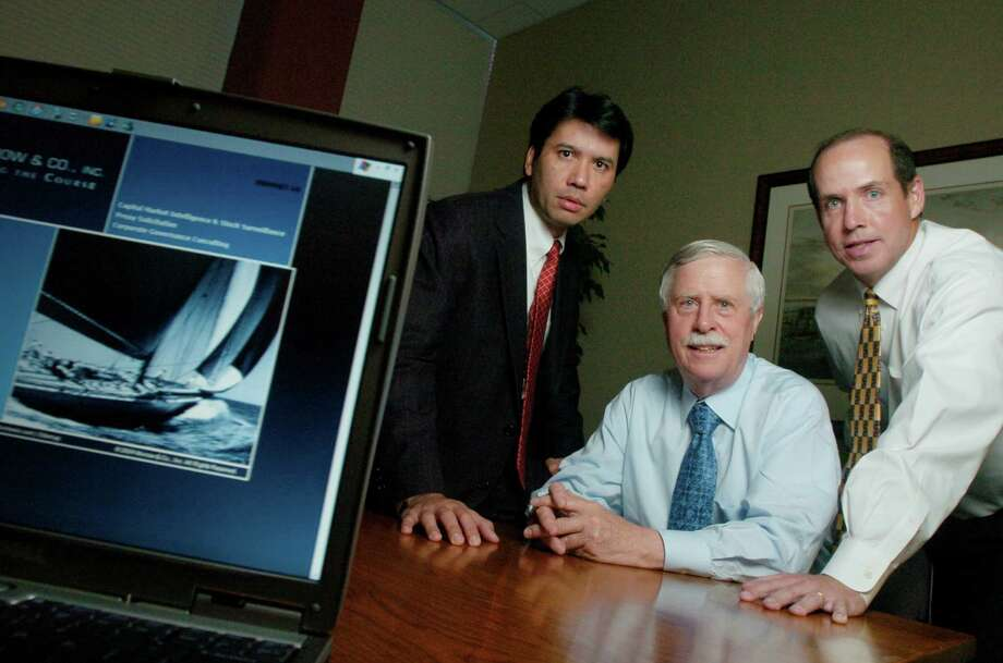 Morrow & Co. founder Joe Morrow pictured in 2006 along with colleagues Gerry Davis and Joseph Mills (L-R). On May 11, 2016, Stamford, Conn.-based Morrow & Co. was acquired by Sodali to form Morrow Sodali Global, providing a range of investor relations and corporate governance services including proxy management. Kathleen O'Rourke/Staff photo Photo: / ST