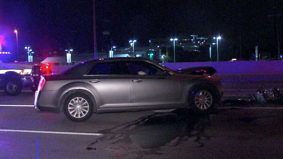 Police say a man was injured Thursday morning after slamming into a barrier on the Northeast Side. Photo: 21 Pro Video