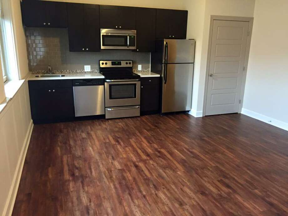 A kitchen in the new Homeroom Lofts on Route 43 in Averill Park.