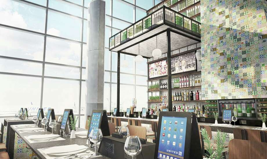 Rendering of concessions at C North Concourse slated to open early next year in Bush Intercontinental Airport.