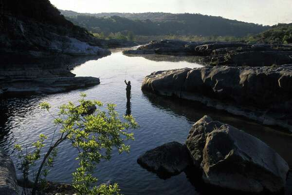 Pedernales Falls State Park, located near Johnson City, is shown recently near sunset.