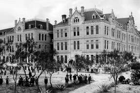 St. Louis College, which later became St. Mary's University, photographed in 1910.