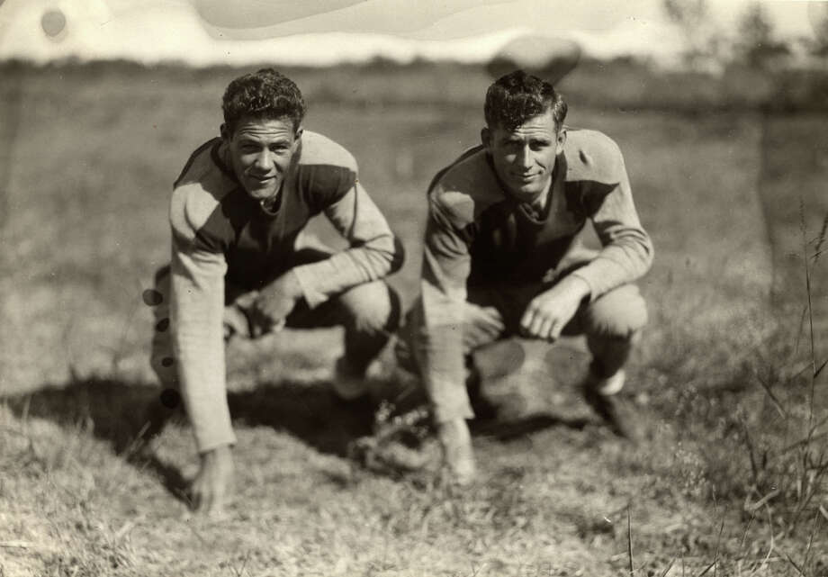 St. Mary's University football players wore long sleeves and pants in the 1920s. It was probably hot as hell without cooling air conditioning, but they still had great hair.  Photo: Courtesy, St. Mary's University