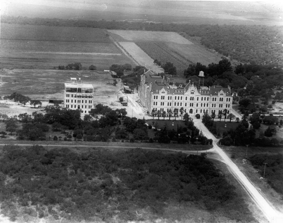 The '20s: An aerial view of St. Mary's University (then St. Louis College) on the West Side. In 1923, all classes transferred from the college's downtown location to the new campus.