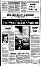 Historic Chronicle Front Page May 23, 1979  Aftermath of Dan White Verdict that set off  violent protests  Chron365, Chroncover