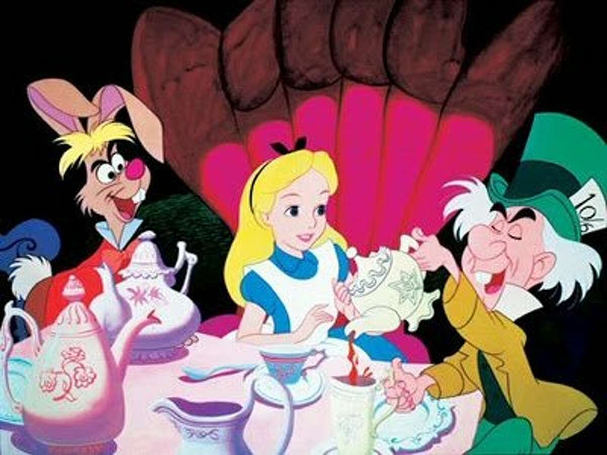 """A still from the 1951 Disney animated version of """"Alice in Wonderland"""""""