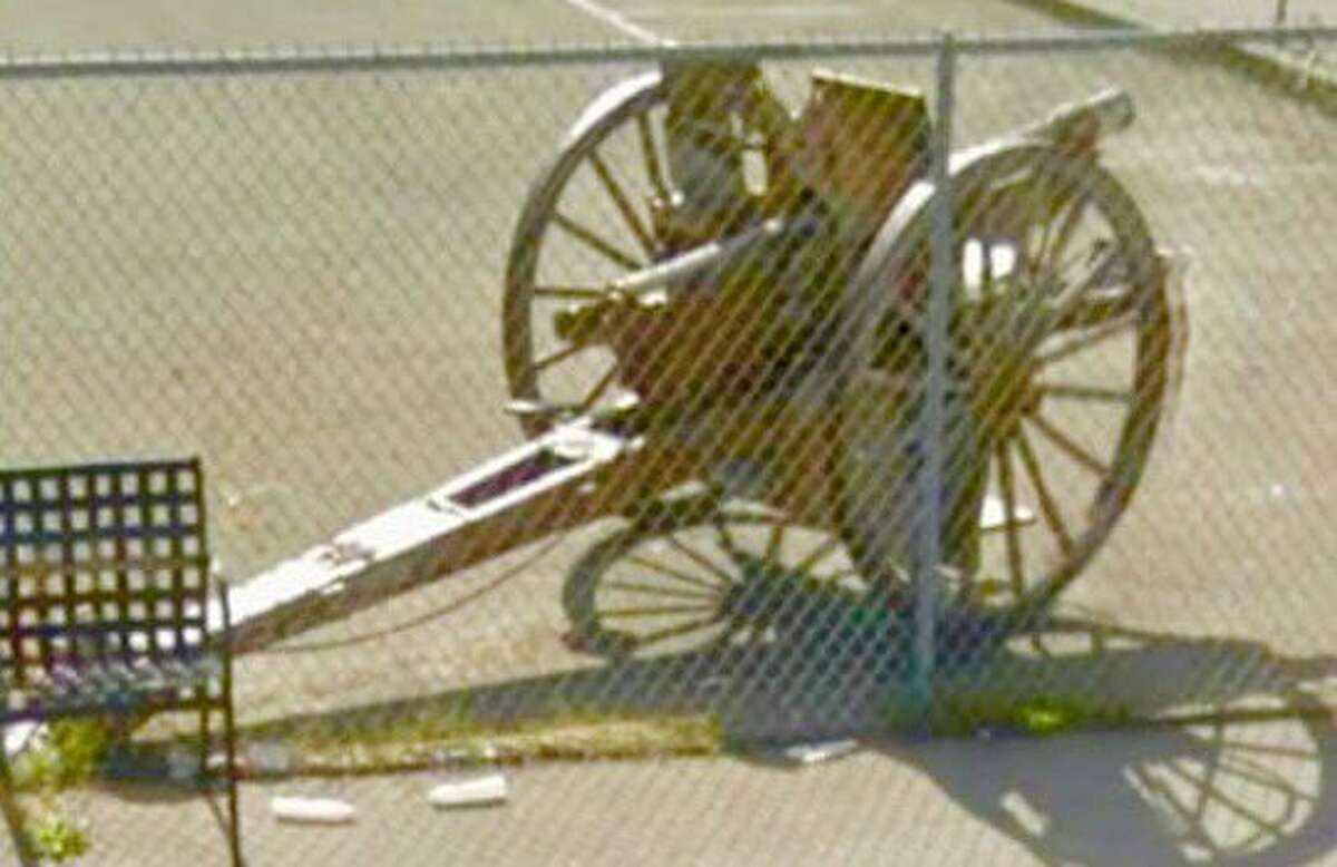 A missing WWI cannon stolen from the parking lot of Richmond's Veterans Memorial Hall was found on Thursday, May 12, 2016.
