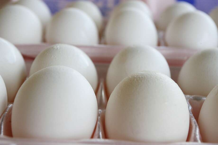 """Animal-protection groups sought federal rules that would require all egg cartons to be labeled either """"Free-Range Eggs,"""" """"Cage-Free Eggs"""" or """"Eggs from Caged Hens."""" AFP PHOTO / ABDULLAH POPEAbdullah Pope/AFP/Getty Images Photo: ABDULLAH POPE, AFP / Getty Images"""