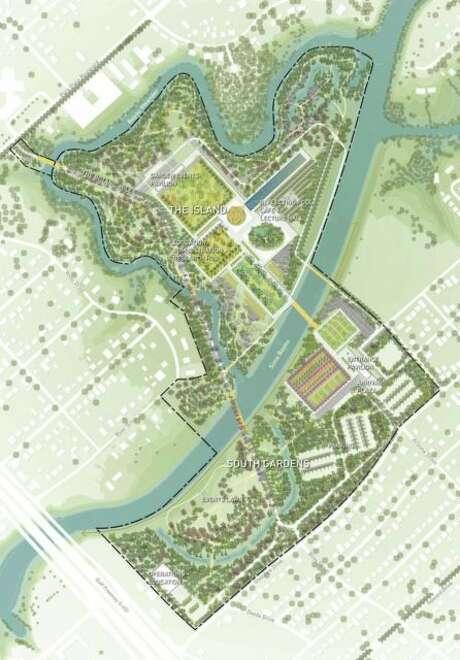 West 8's plan for the Houston Botanic Garden. Photo: Houston Botanic Garden