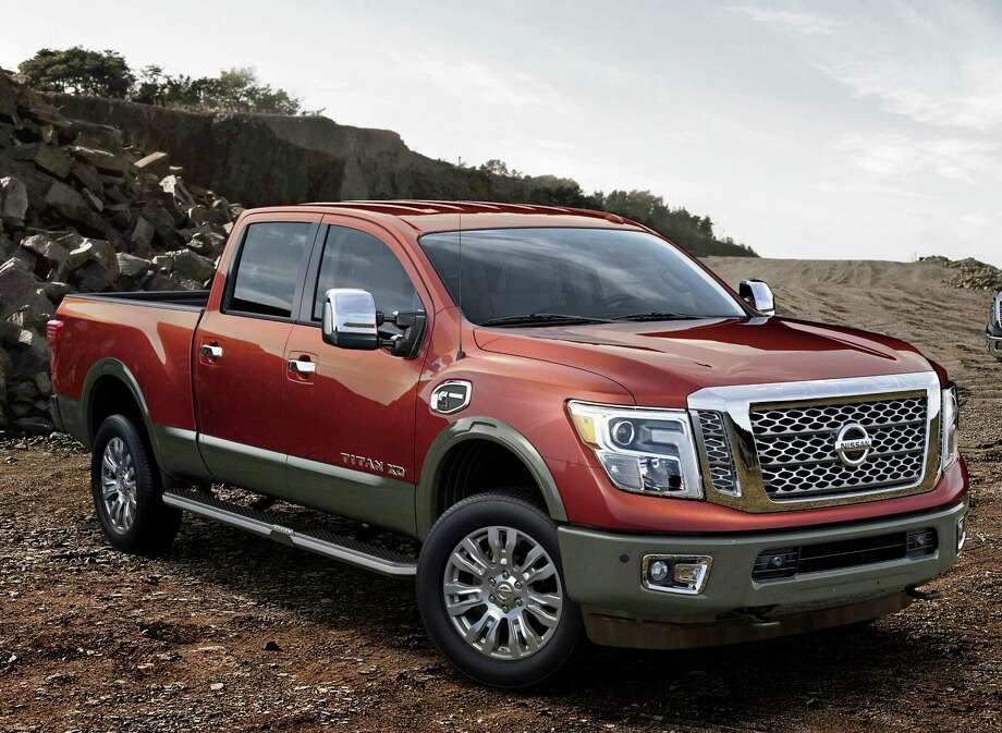 The 2016 Nissan Titan XD, which made its world debut at the North American International Auto Show in Detroit, is set to shake up the highly competitive full-size pickup segment when it goes on sale in the United States and Canada beginning in late 2015. It has a bold new design that stakes out a unique position in the segment between traditional heavy-duty and light-duty pickups. Photo: Nissan North America / © 2015 Nissan