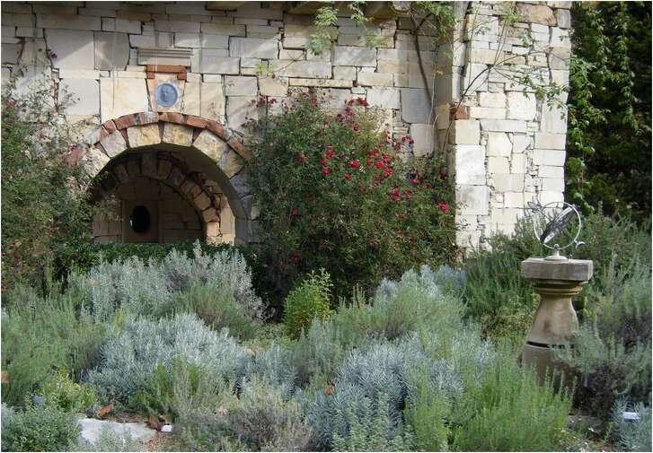 Sun-loving herbs thrive in the Mediterranean Garden at Round Top's Festival Hill.