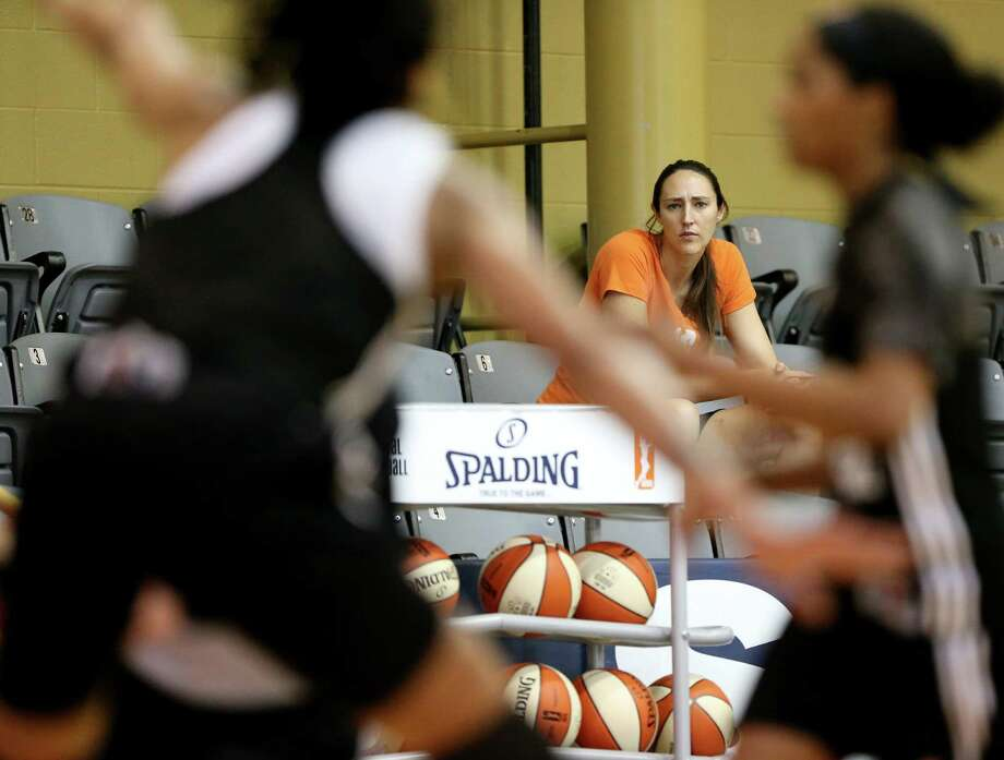 San Antonio Stars general manager and former player Ruth Riley watches the first on-court day of training camp on April 25, 2016 at the Antioch Sports Complex. Photo: Edward A. Ornelas /San Antonio Express-News / © 2016 San Antonio Express-News