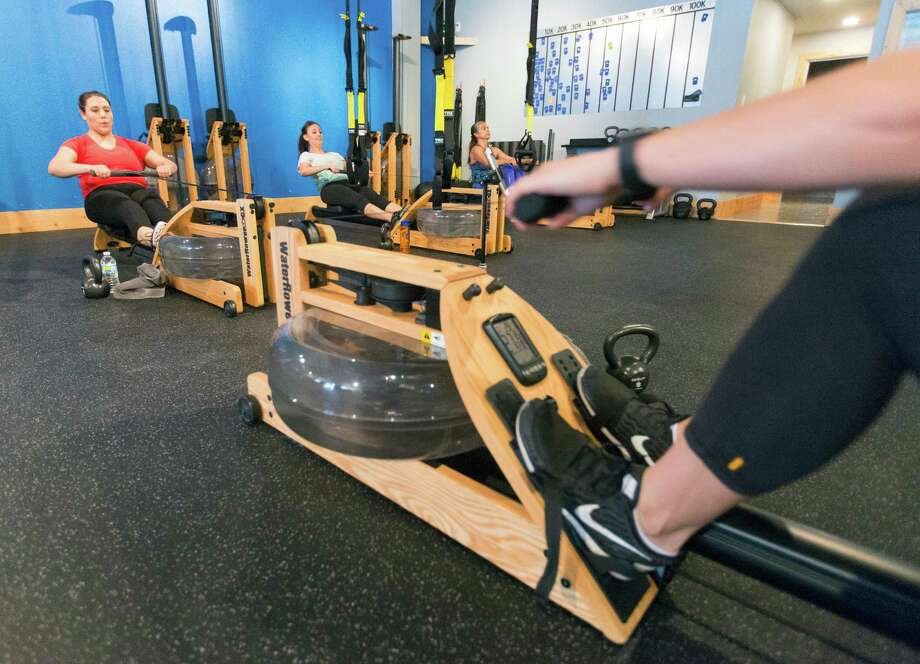 EnergyX gym on Broadway in Alamo Heights specializes in water rowing machines. Photo: William Luther /San Antonio Express-News / © 2016 San Antonio Express-News