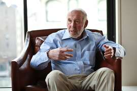 **EMBARGO: No electronic distribution, Web posting or street sales before Tuesday 12:01 a.m. ET May 10, 2016. No exceptions for any reasons. EMBARGO set by source.** FILE �- James Simons, who founded the hedge fund Renaissance Technologies, New York, Dec. 12, 2011. Simons and Kenneth Griffin again topped the list of the best-paid hedge fund managers in 2015, each taking home $1.7 billion, according to Alpha magazine. Despite a year of market volatility, the biggest hedge fund managers have more money and more sway than ever before, and they are wielding greater political influence. (Fred R. Conrad/The New York Times)