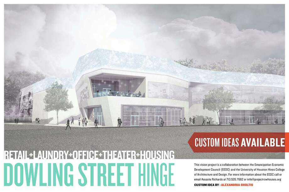 A student design for development in the Third Ward.