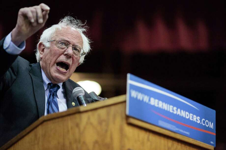 US Democratic presidential candidate Bernie Sanders addresses a campaign rally in Salem, Oregon, May 10, 2016.  Sanders beat rival Democrat Hillary Clinton in the West Virginia primary to bolster his argument for remaining in the race. / AFP PHOTO / Rob KerrROB KERR/AFP/Getty Images Photo: ROB KERR, Stringer / AFP or licensors