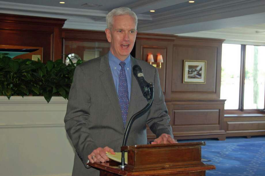 State Supreme Court Justice Andrew McDonald spoke Thursday at the Greenwich Bar Association's annual Law Day luncheon at the Indian Harbor Yacht Club in Greenwich. Photo: Ken Borsuk / Hearst Connecticut Media / Greenwich Time