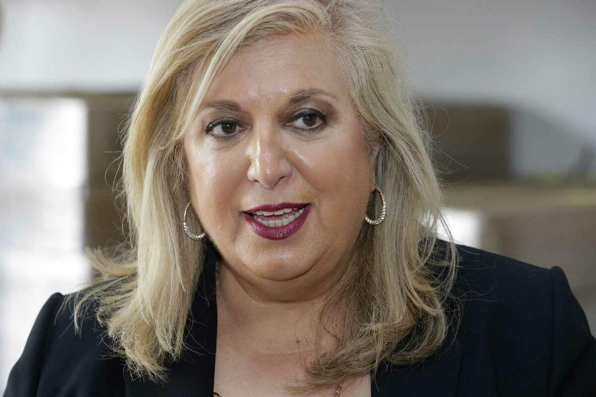 U.S. Small Business Administration South Central Regional Administrator Yolanda Garcia Olivarez, talks at Axistrade, 16111 Park Entry Drive, Wednesday, May 11, 2016, in Houston. ( Melissa Phillip / Houston Chronicle )