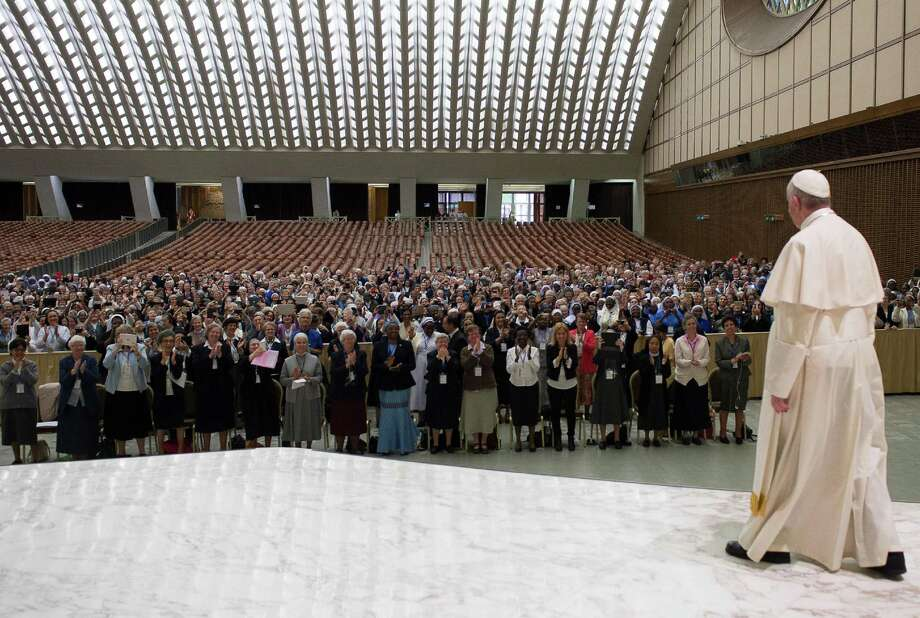 Pope Francis has been a frequent and outspoken critic of Satan, also stoking support for exorcisms.(L'Osservatore Romano/Pool photo via AP) Photo: POOL / L'Osservatore Romano