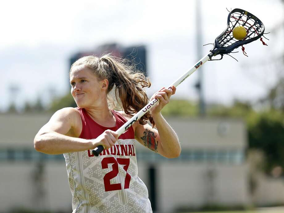Stanford lacrosse player Anna Salemo returned to the field this season, helping the Cardinal reach the NCAA Tournament. Photo: Scott Strazzante, The Chronicle