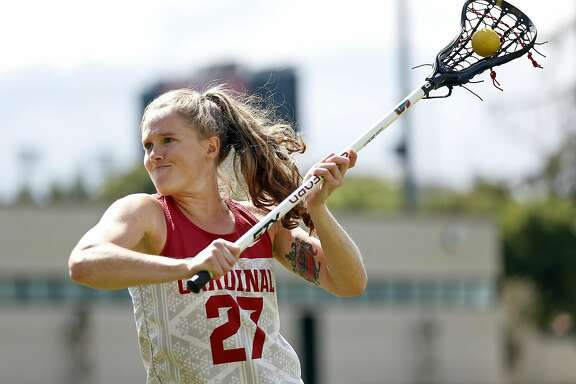 Stanford Lacrosse's Anna Salemo during practice in Stanford, Calif., on Thursday, May 5, 2016.