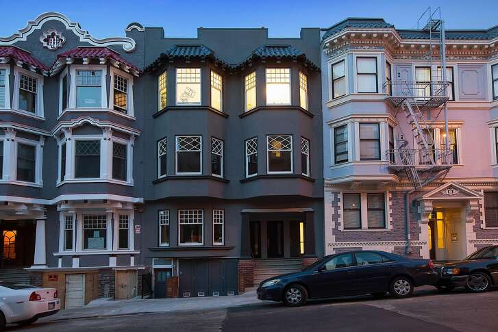 """The top-floor condominium resides inside a building that was part of a rooftop chase scene in Alfred Hitchcock's 1958 classic """"Vertigo."""""""