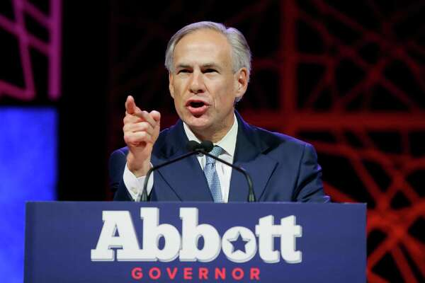 Texas Gov. Greg Abbott speaks during the opening of the Texas Republican Convention Thursday, May 12, 2016, in Dallas. (AP Photo/LM Otero)