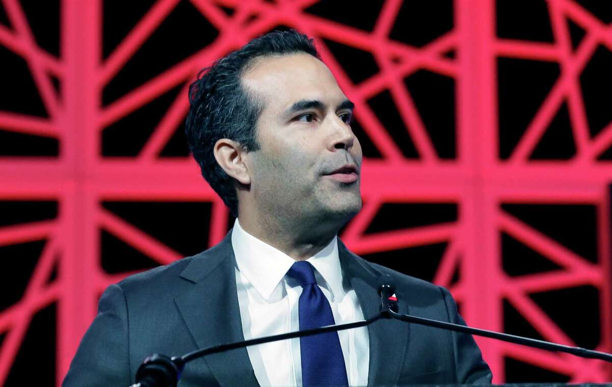 Texas Land Commissioner George P. Bush speaks to delegates at the Texas Republican Convention Thursday, May 12, 2016, in Dallas. (AP Photo/LM Otero)