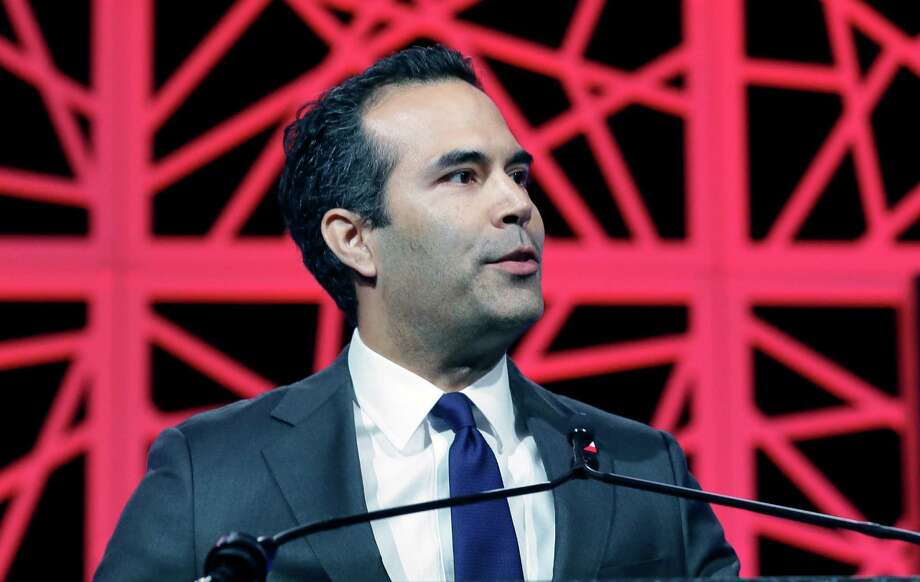 Texas Land Commissioner George P. Bush speaks to delegates at the Texas Republican Convention  Thursday, May 12, 2016, in Dallas. (AP Photo/LM Otero) Photo: LM Otero, Associated Press / AP